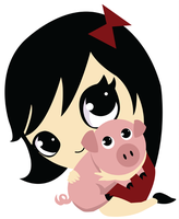 Piggy and Girl by HeatherIhn