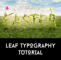 Leaf Typography Tutorial by AbbeyMarie