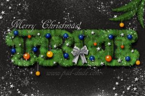 Christmas Text PS Tutorial by PsdDude