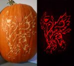 Mega-Absol Pumpkin Carving by ZachAttack-4NDP