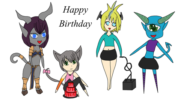 Birthday drawings by Augmented-Assassin