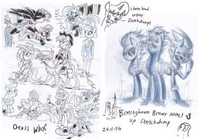 Brummie Brony meet pony sketch up roundup 11 by Jowybean