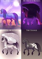Evanescence Horse Adoptables 6 CLOSED by ForeverFallen16