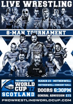 Pro Wrestling World Cup Scotland Tournament Poster by Ahmed-Fahmy