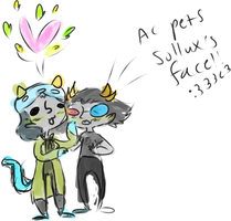 solluxXnepeta by Coyotoscoping