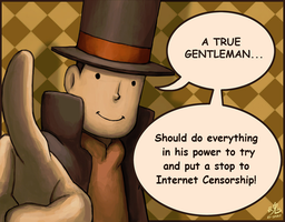 True Gentleman Oppose Net Censorship by Pfaccioxx