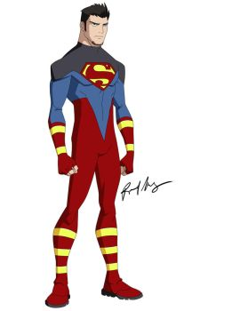 superboy updated costume by robert023