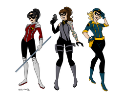 Birds of Prey Redesigns 2 by msciuto