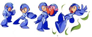 Megaman sketches by Shira-hedgie