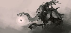 orc sumonner sketch by BenedictWallace