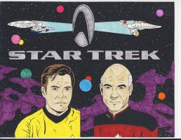Star Trek: Kirk And Picard by RoyPrince