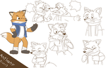 Tony the Fox by Glassesgator by Shaprite91