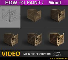 how to paint in photoshop Wood by JesusAConde