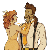Draven and Leona by Friwil
