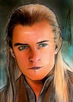 Legolas Sketch Card 5 by RandySiplon