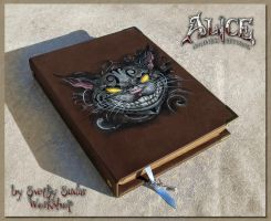 Leather notebook Alice - Madness Returns by Svetliy-Sudar