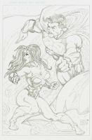 Superman and Wonder Woman Issue 211 Remix PENCILS by ZUCCO-ART