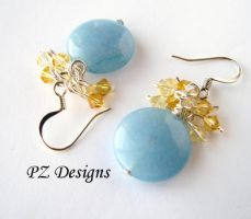 Forget Me Not Earrings by PurlyZig
