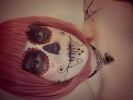 Sugar skull makeup by Samii-Doll