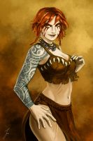 Astrid tattoo by iara-art