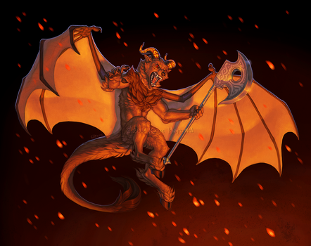 Descend into the Inferno by KatieHofgard