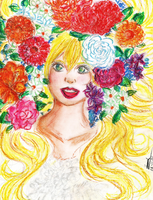 Draw's Arts | The girl of flowers by Loves2LucyD19