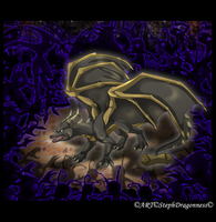 C: Dragon VS Heartless by StephDragonness