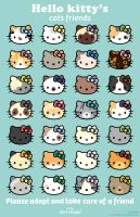 hello kitty's cats friends by miri-chiwa