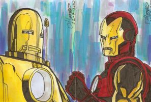 Iron Man sketch card 2 by aisu-kaminari