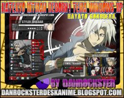 Hayato Gokudera Theme Windows XP by Danrockster