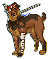 A Pirate Flag and an Island Girl by SurfMutt