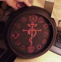Full Metal Alchemist Clock by snowtigra