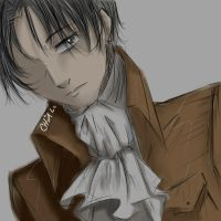 Lance Corporal Rivaille - Digital Art Practice by mekanikarutenshi