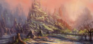 Cliffs and Cities by mongobanana079