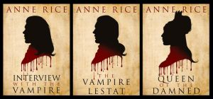 The Vampire Chronicles: Book Silhouettes by LathronAniron