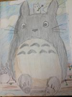 Totoro and his Little Friends by ZalphaNekoChan