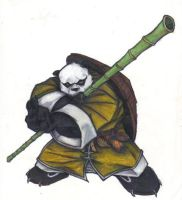 Panda Warrior by IzumiNanaki