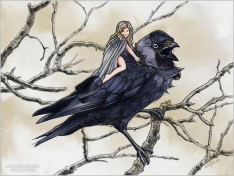 Jackdaw Faerie by MistiqueStudio