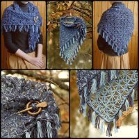 Shawl Wrap Autumn Sky by WonderfulSun