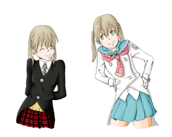 Passing Years: Maka Colored by xXGuntaXx
