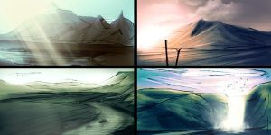 Iceland thumb sketches by nixuboy