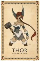 She Thor color by wardog-zero