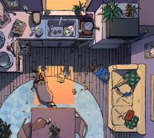 The Raccoon's Apartment by ArienSmith