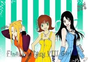 FFVIII GIRLS I by MiSeN-MiSeN