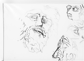 Laocoon and Facial Sketches by VLStone