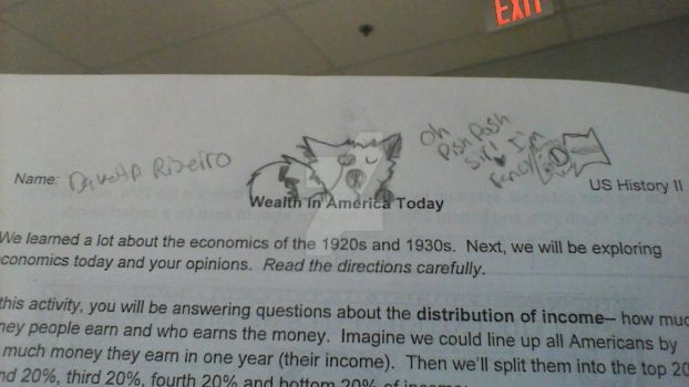 Doodling in history. by bellarosemoon