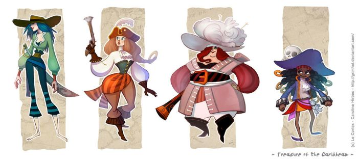 Treasure of the Caribbean - Pirate girls by Grimhel