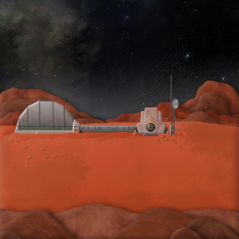Mars Colony 1 by Andrew-Graphics