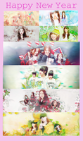 [share PSD] Pack SHARE HAPPY NEW YEAR 2015 by Xeocute2k