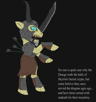 Ponified Skyrim loading screen: Draugr Deathlord by glue123